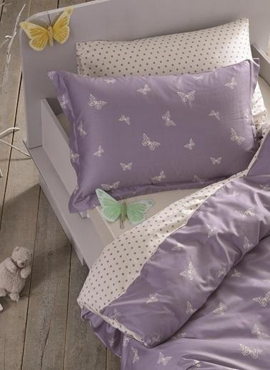 Hibboux Butterflies in a Dream Bebek Nevresim Takımı Lila